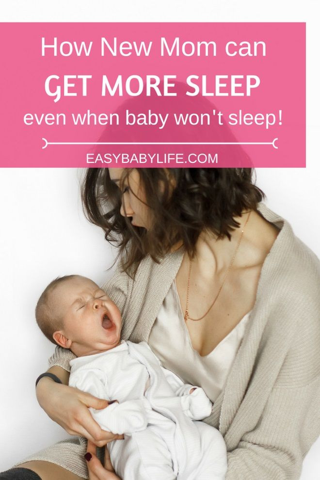 8 Awesome Ways to Get More Sleep as a New Mom (Even When Your Baby Won't Sleep), New Mom sleep tips, New Mother, Exhausted New Mom