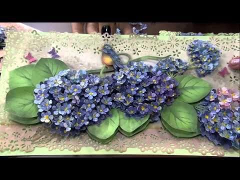 Mulher.com - 26/12/2014 - Arte francesa hortensia por Susan Mason - Parte 1 - YouTube