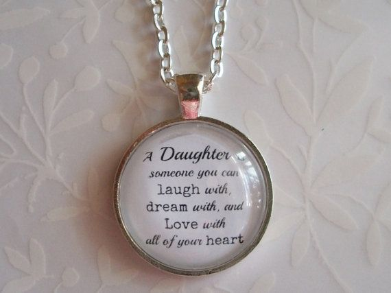 Special Gift For Daughter On Her Wedding Day: Special Daughter Gift Charm Necklace. Mother Daughter