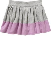 Color-Block Jersey Skorts for Baby