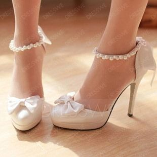 Buy  New Confortable Round Bridal shoes  Online, Dresswe.Com offer high quality fashion,Price: USD$64.19