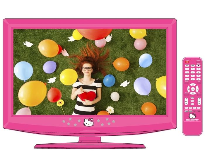Super cute but still not sure if i want her to have a tv in her room...Hello Kitty 19″ LCD Television with Remote Control