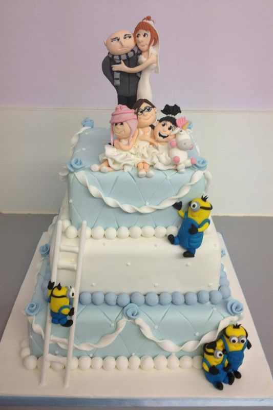 Despicable me 2 wedding cake! - For all your cake decorating supplies, please visit craftcompany.co.uk