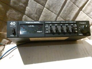 Radio Shack Realistic Car Stereo Power Booster Stereo Frequency Equalizer |  Radio shack, Car stereo, Stereo | Realistic Equalizer Wiring Diagram |  | Pinterest