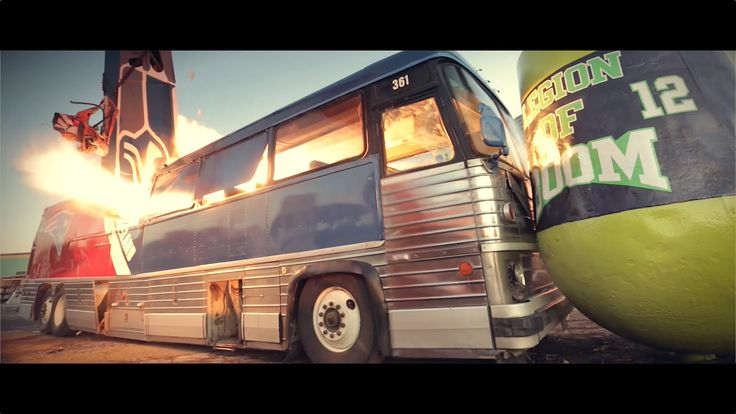 "Scrap-It Recycling's ""Shearhawk"" (Seahawks) destroys New England Patriot's tour buses in Ferndale, WA scrap yard. CREDITS Film Production: Chad DeRosa Photog..."