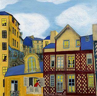 peinture / collage, e2ma, Emmanuelle Folligné