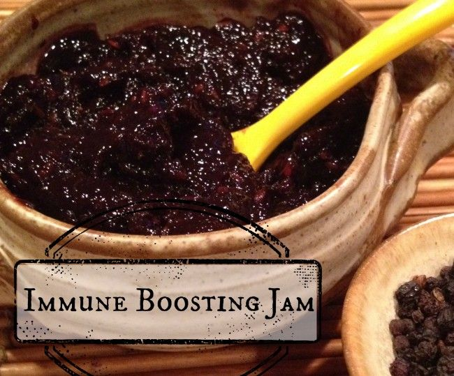 Ditch the Germs with this Immune Boosting Sugar-Free Elderberry Jam! Super Easy and Deeeeelicous!