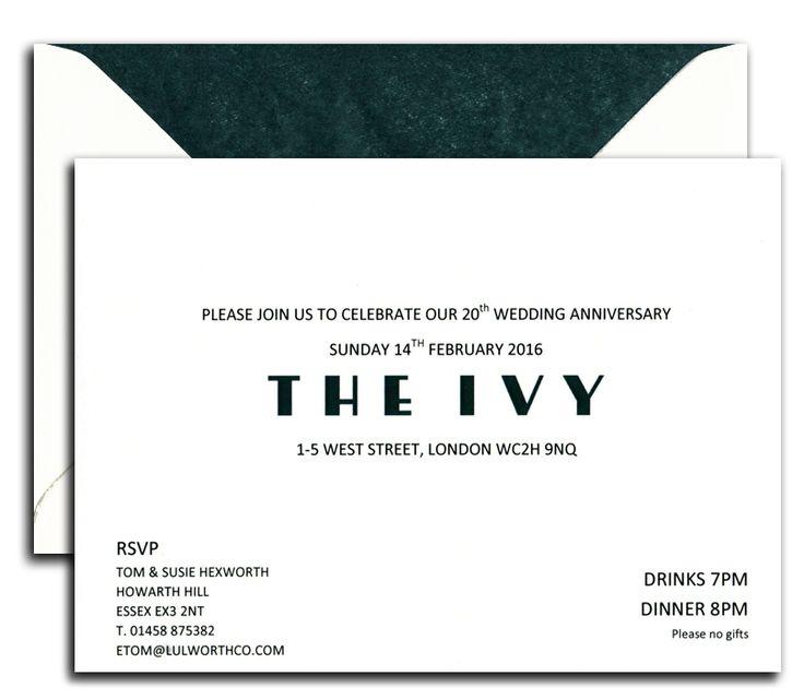 Bespoke Invitations from heritage Stationery