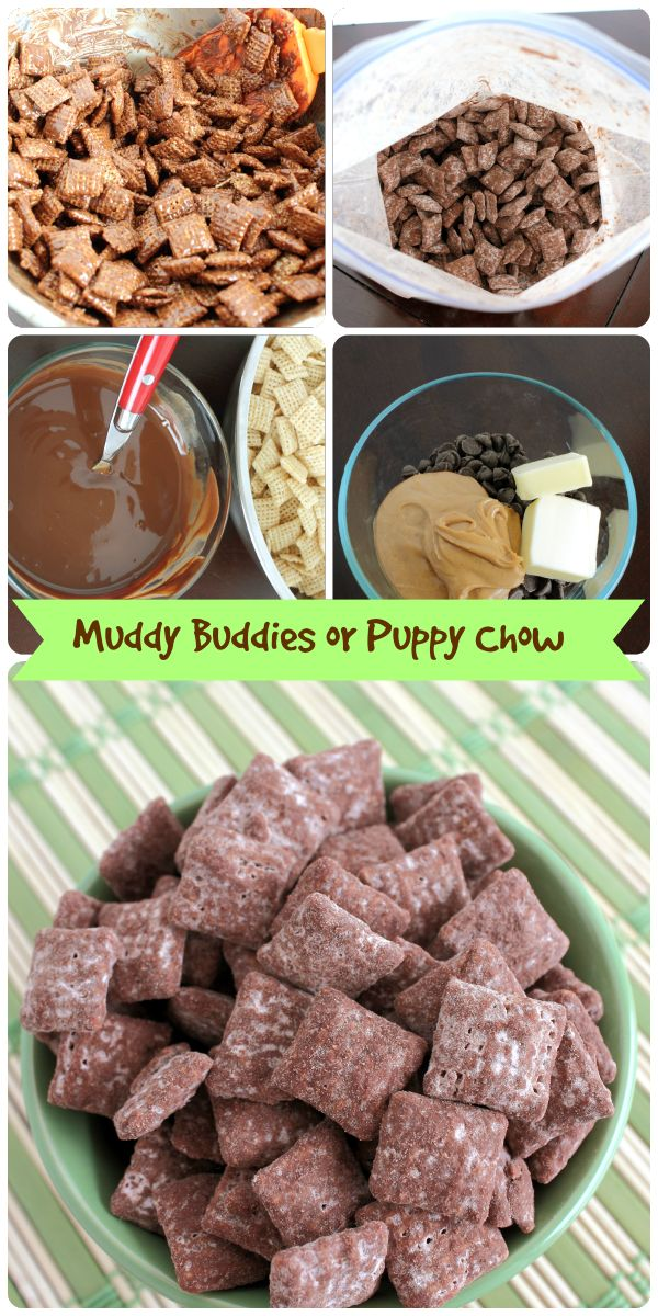 Whether you call it Muddy Buddies or Puppy Chow, it's a recipe that is always a hit with the kids. Sometimes the simple recipes are the best!