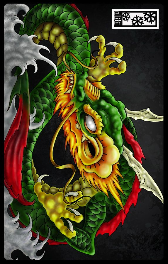 59 best dragons and tigers images on pinterest chinese for Japanese koi dragon