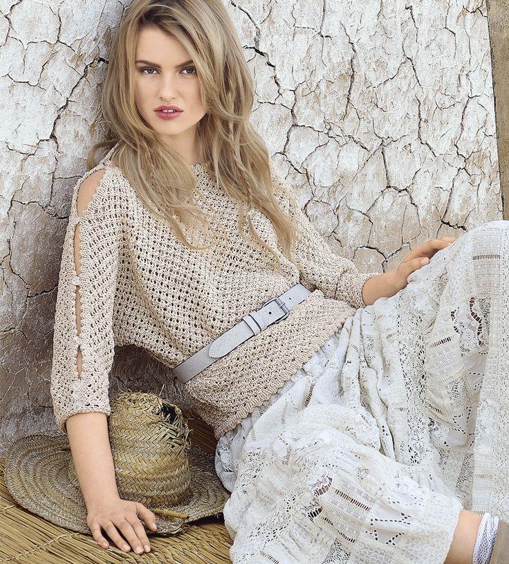Джемпер с рукавами на пуговицах - схема вязания спицами. Вяжем Джемперы на Verena.ru