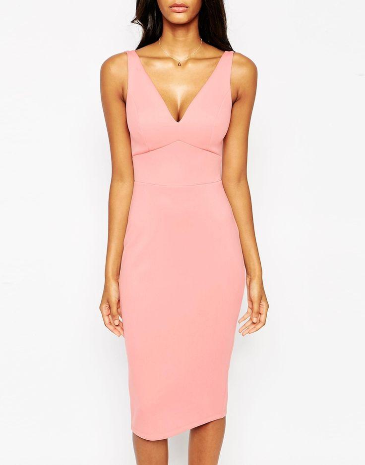 Изображение 3 из Платье-футляр миди в стиле 50-х ASOS