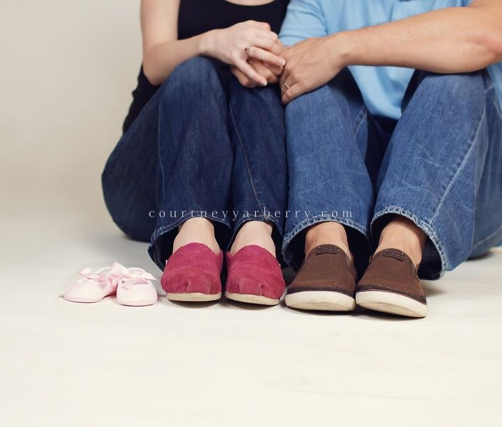 Maternity pictures... Have totally used the shoes idea before, but this is a new pose with them!