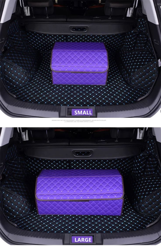 Girly Car Trunk Organizer - Purple