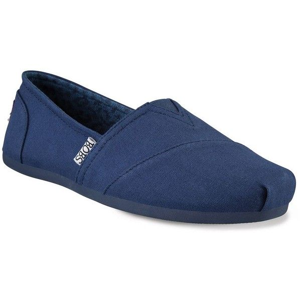 Skechers BOBS Plush Peace and Love Women's Flats ($50) ❤ liked on Polyvore featuring shoes, flats, blue, slip-on shoes, elastic shoes, skechers, slip on shoes and blue shoes