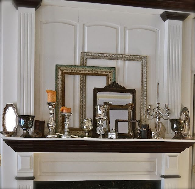 Pretty mantle display. Love the frames!