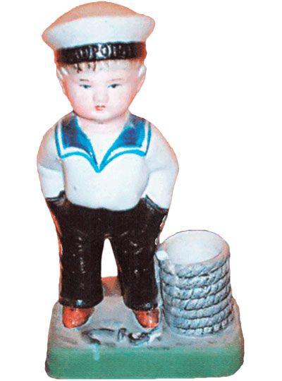 Фарфоровая статуэтка Юный моряк Городница