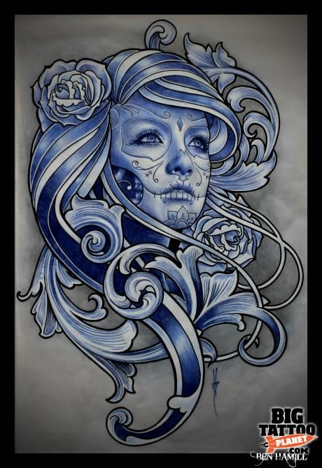 Newly discovered artists following the Halloween Tattoo Convention...  Ben Hamill (Bournemouth, UK)