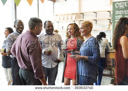 Diversity People Party Brunch Cafe Concept - stock photo