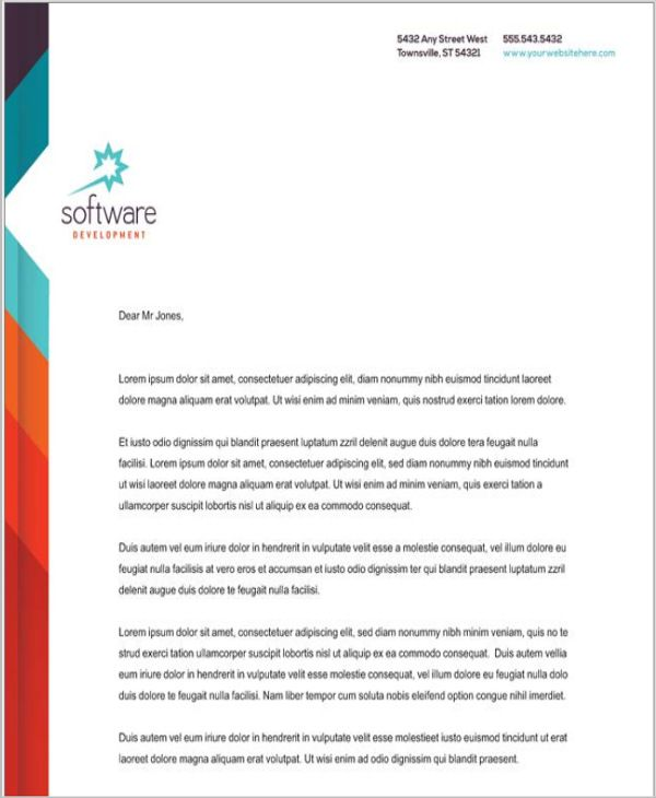 company letterhead templates word free amp premium business - company letterhead word template