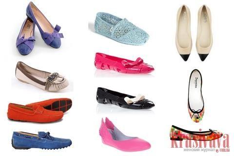 Обувь без каблука лето