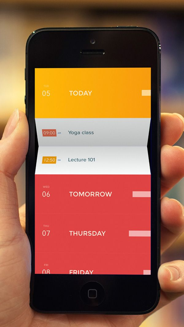 mobile app design inspiration peek calendar - App Design Ideas