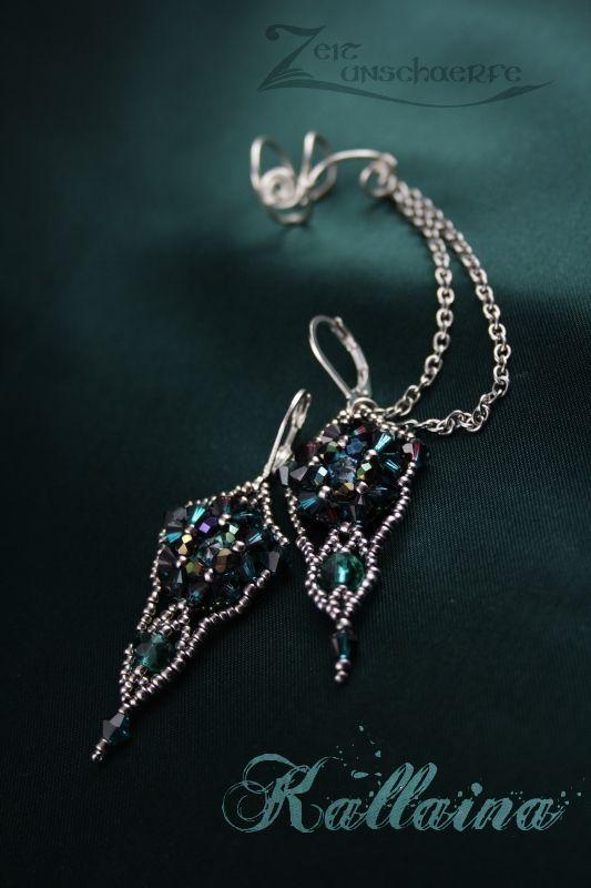 Kallaina earrings by Zeitunschaerfe