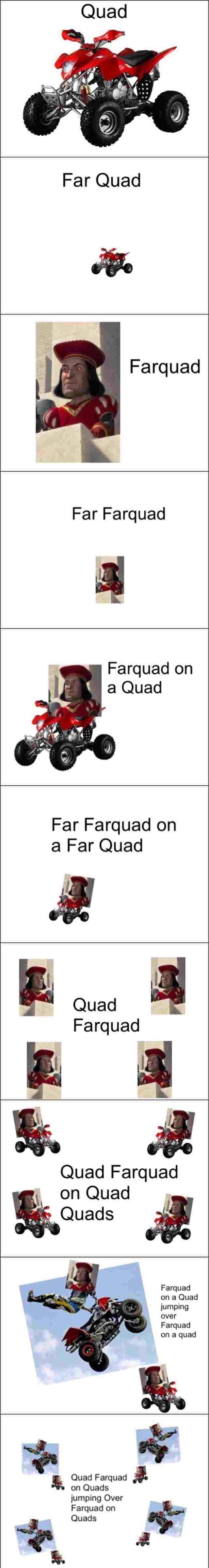 Quad Meme Lord Farquad is...