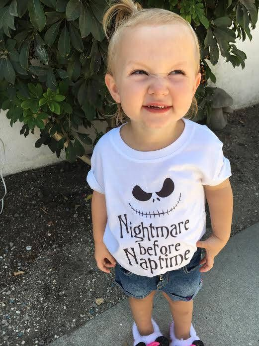Nightmare before naptime, Disney Halloween Shirt, Boys Clothing, Girls Clothing, Halloween Costume, Toddler Halloween, Toddler Nightmare tee by JADEandPAIIGE on Etsy https://www.etsy.com/listing/553395117/nightmare-before-naptime-disney