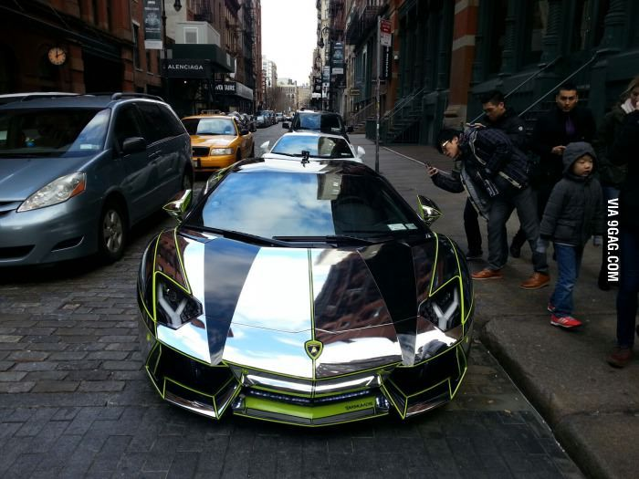chrome aventador in nyc nyc in and lamborghini aventador