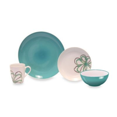 Baum Zen Garden 16-Piece Dinnerware Set in Green - BedBathandBeyond.com
