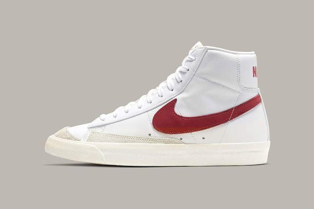 First Look: Nike Blazer Mid 77 - White/Brick Red | Nike blazer ...
