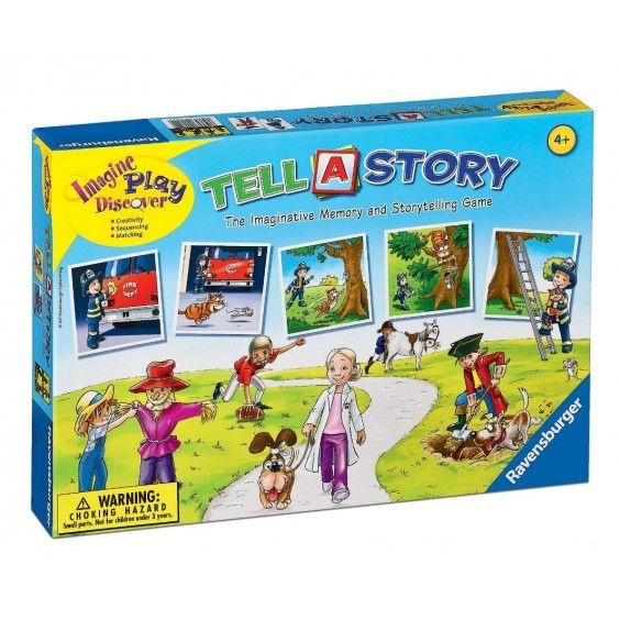 Ravensburger - Tell A Story Game - Christmas Catalogue - Our Products - Entropy Australia #Entropywishlist #pintowin  I love this idea - memory game combined with imaginative story telling.  We have story-cubes which my kids love, and we all end up in fits of laughter listening to the funny stories everyone comes up with!