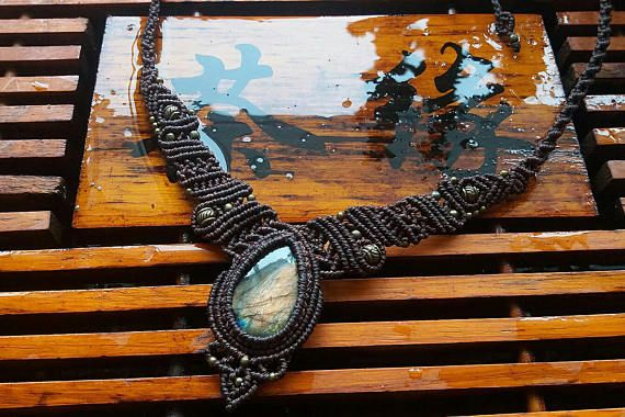 Check out this item in my Etsy shop https://www.etsy.com/nz/listing/521122966/handmade-macrame-necklace-jewellery