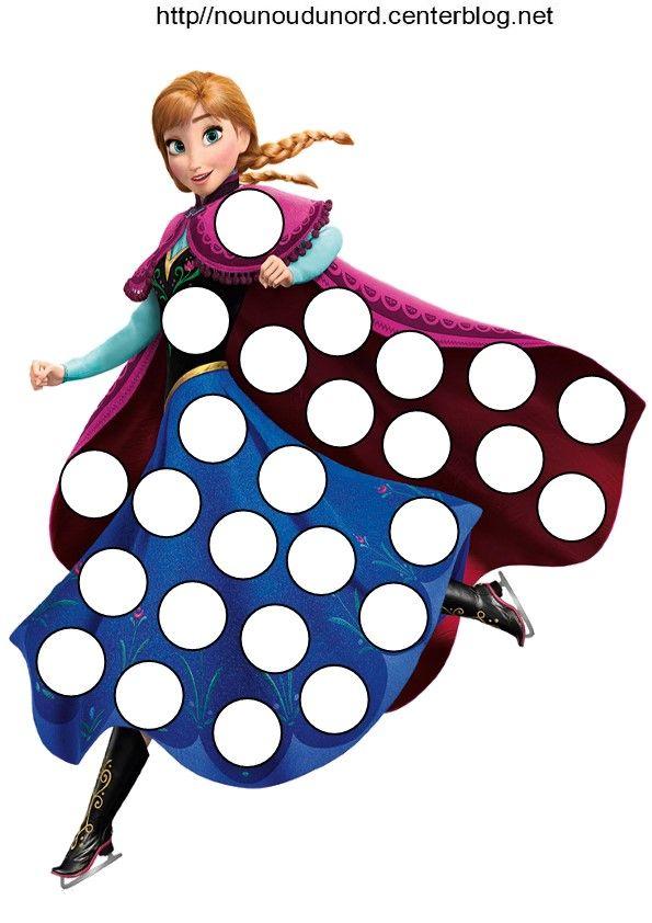 personnage Anna reine des neiges pour les gommettes http://nounoudunord.centerblog.net/4206-reines-des-neiges-pour-les-gommettes