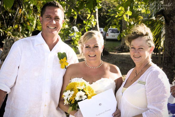The lovely Sam and Clint - Trinity Beach October 2011 - www.rhapsodyceremonies.com.au