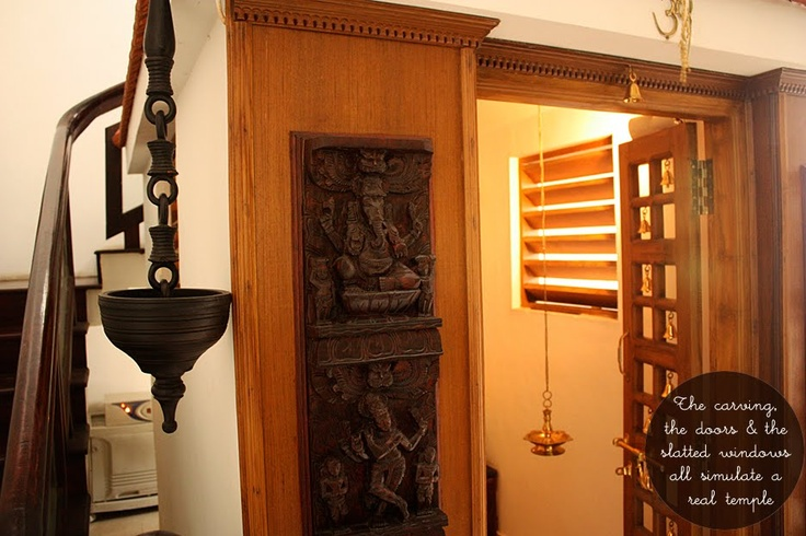 artnlight: Tradition Recreated in a home in Palakkad. #Hindu #pray #room #pooja #puja #meditate #India