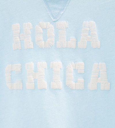 """Imagen 5 de Camiseta """"Hola chica"""" de Zara"""