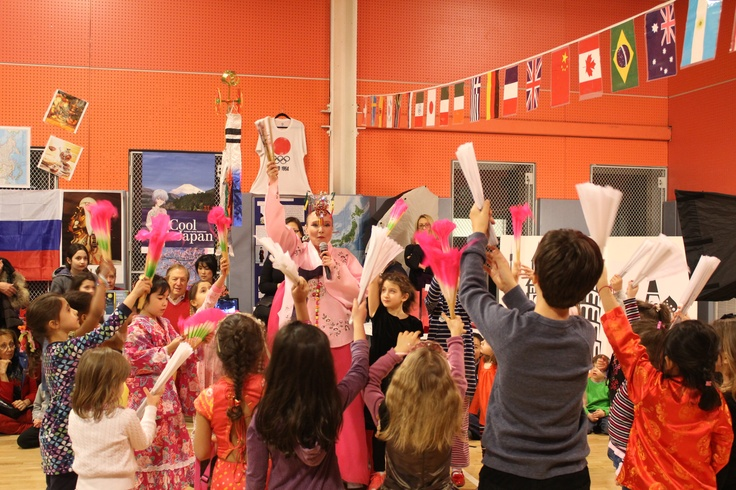 Join in a fan dance with performers from the Korea Society.