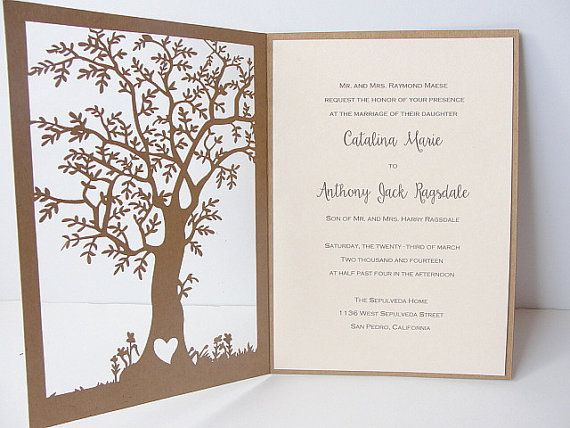 Awesome Fall Wedding Invitation Laser Cut Tree Wedding By LavenderPaperie1