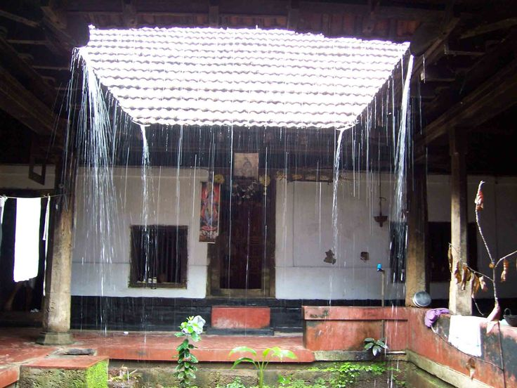 Nalukettu during rain monsoon pinterest rain and search for Modern nalukettu house plans