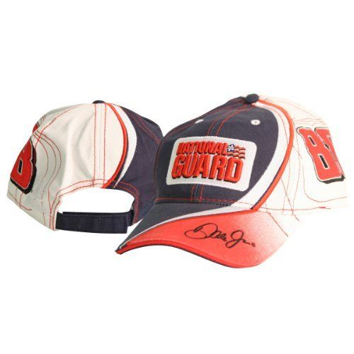 """Dale Earnhardt Jr National Guard """"Swirl"""" Adjustable Baseball Hat by NASCAR. Save 61 Off!. $6.98. Show off your driver and/or race loyalty with this one size fits most ages 13+ baseball hat. This item is fulfilled by Amazon."""