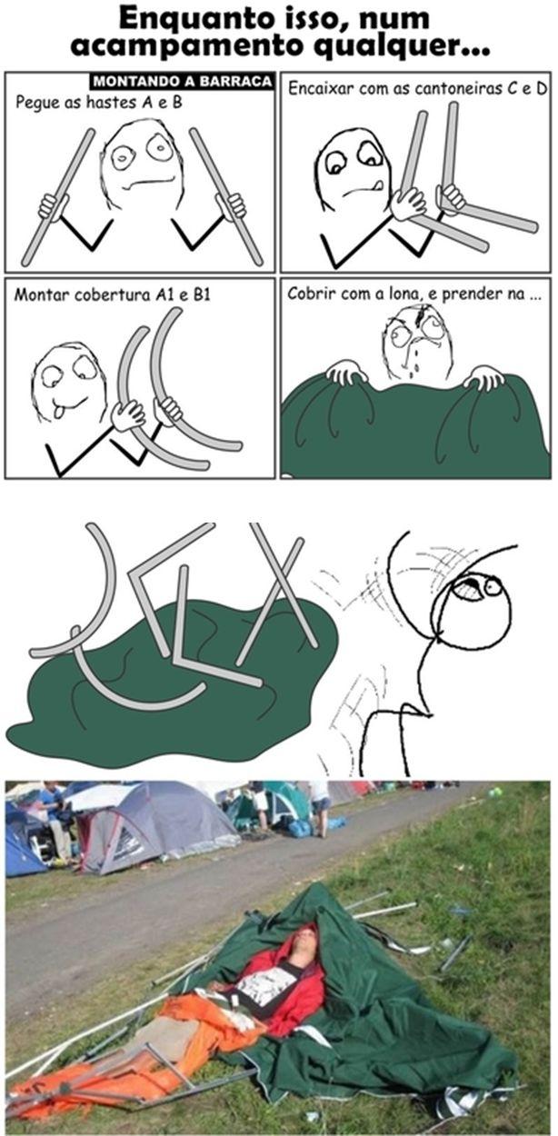 como montar sua barraca