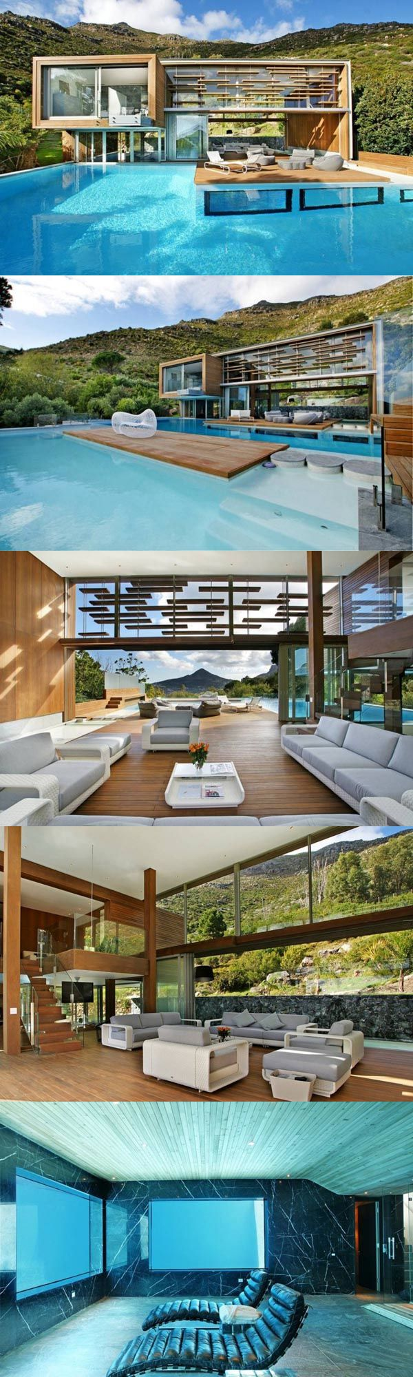 ☮ Modern Architecture Luxurious Architecture. The architects of Metropolis Design created the relaxing Spa House located in Cape Town, South Africa. Varandas Mezaninos e Escadas com Soluções Modernas e de Segurança em Vãos de Escada e Varandas... http://www.corrimao-inox.com http://www.facebook.com/corrimaoinoxsp #mezanino #escadas #sobrados #pédireitoduplo #Corrimãoinox #mármore #granito #decor #saladeestar #home #arquitetura #casamoderna