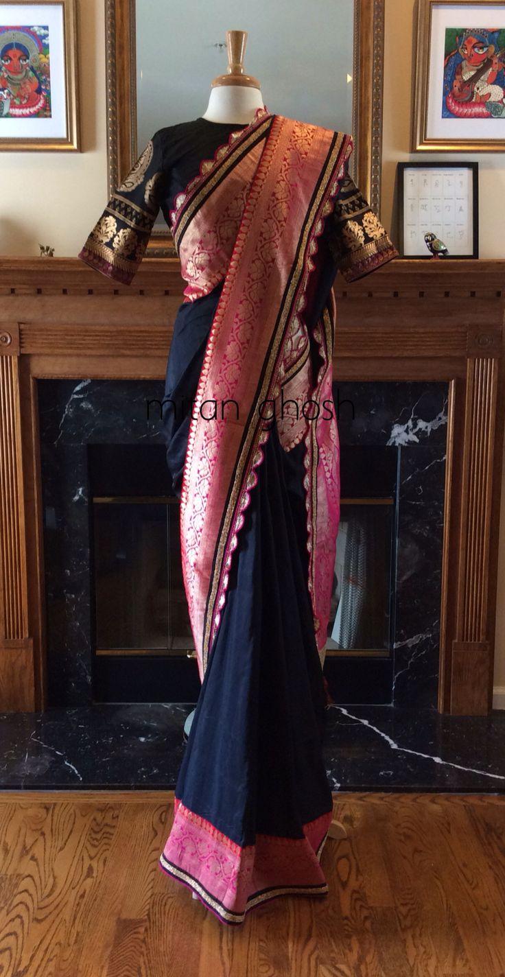 Raw Silk Saree With Banarasi Border