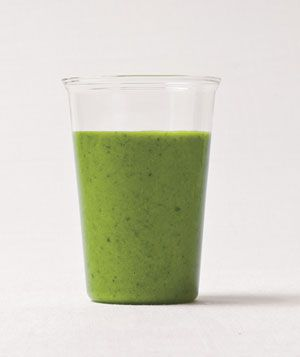 Spinach, Grape, and Coconut Smoothie.  This one make take some time to get Kyleigh to try, haha.