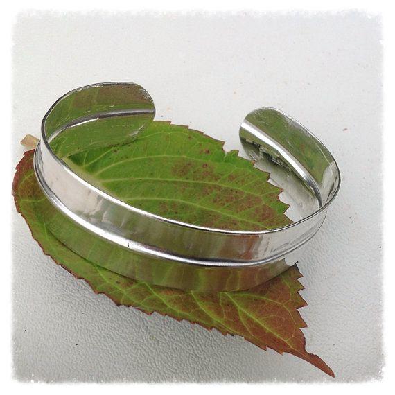 Sterling silver forged cuff bracelet  handmade by HENjewellery