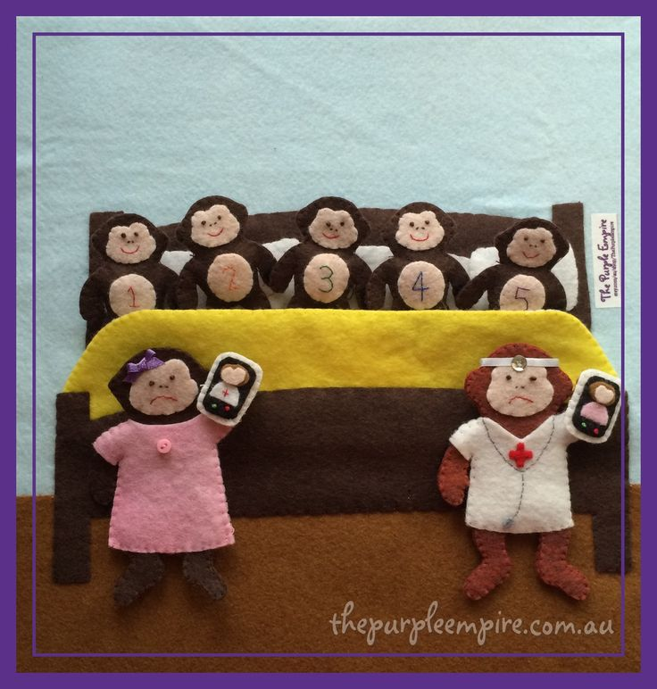 This fun quiet book activity is based on the nursery rhyme 'Five Little Monkeys'. Set comes complete with five little monkeys who have...