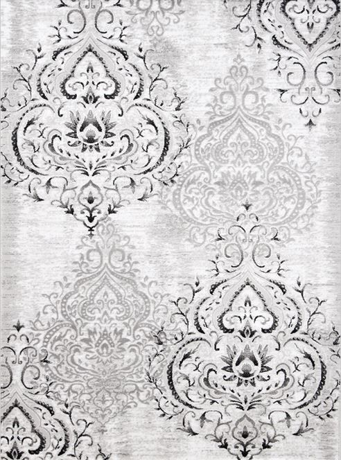 Platinum Venetian Grey/White Area Rug
