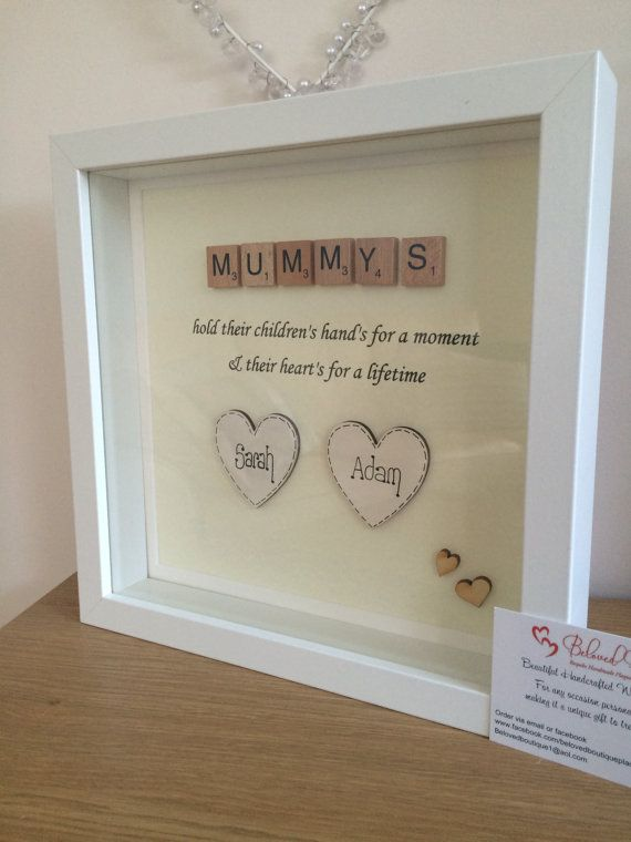 Personalised Scrabble Mum frame by MyBelovedBoutique on Etsy